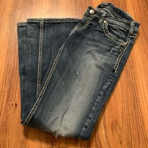 30x31 Aiko Bootcut silver jeans
